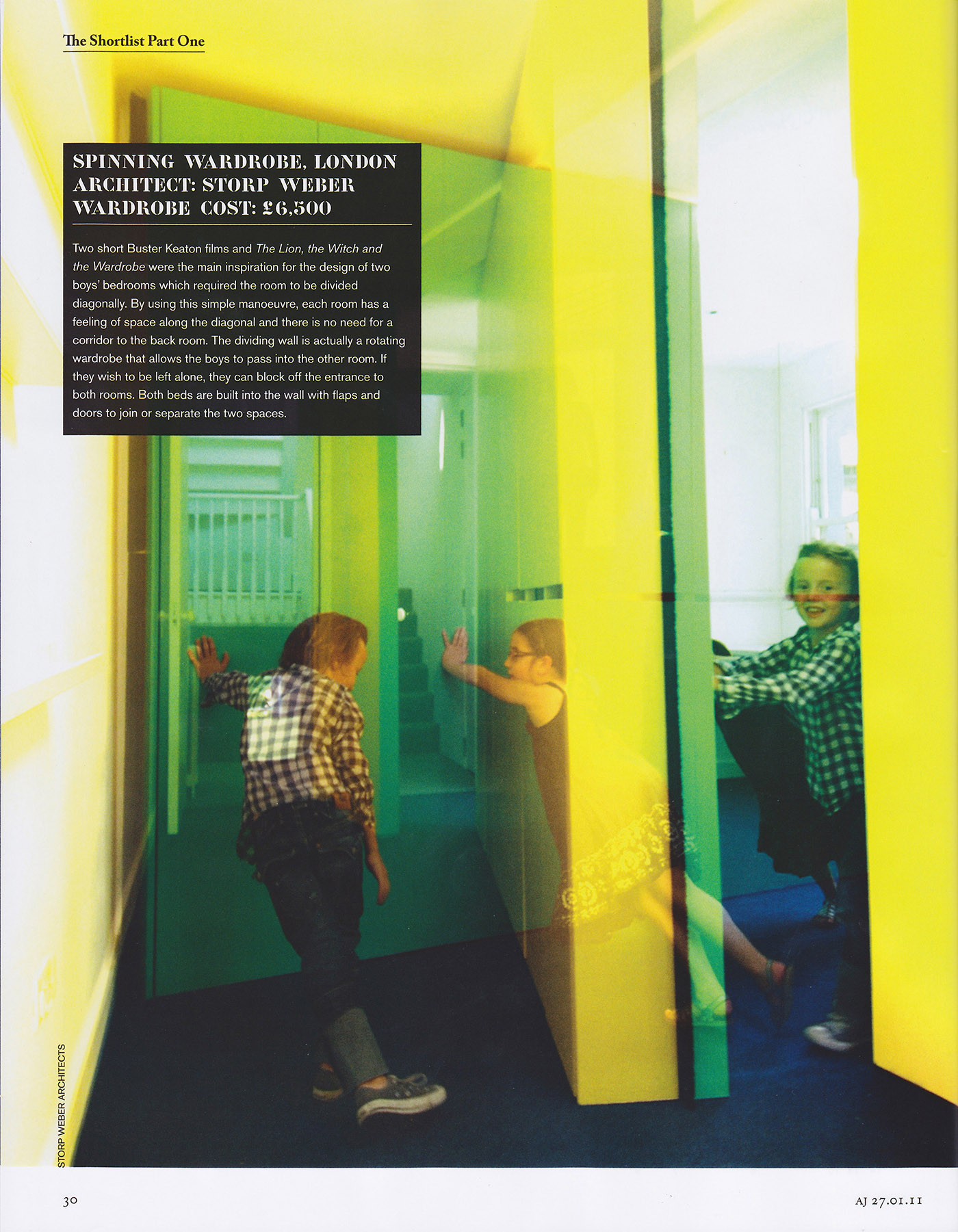 Architects Journal 01/2011, page 30, Small Building Awards Shortlisted.