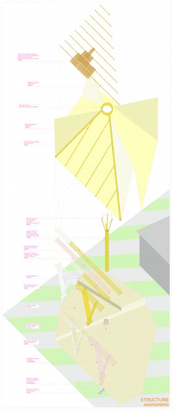 Exploded Drawing of the Bamboo Structure