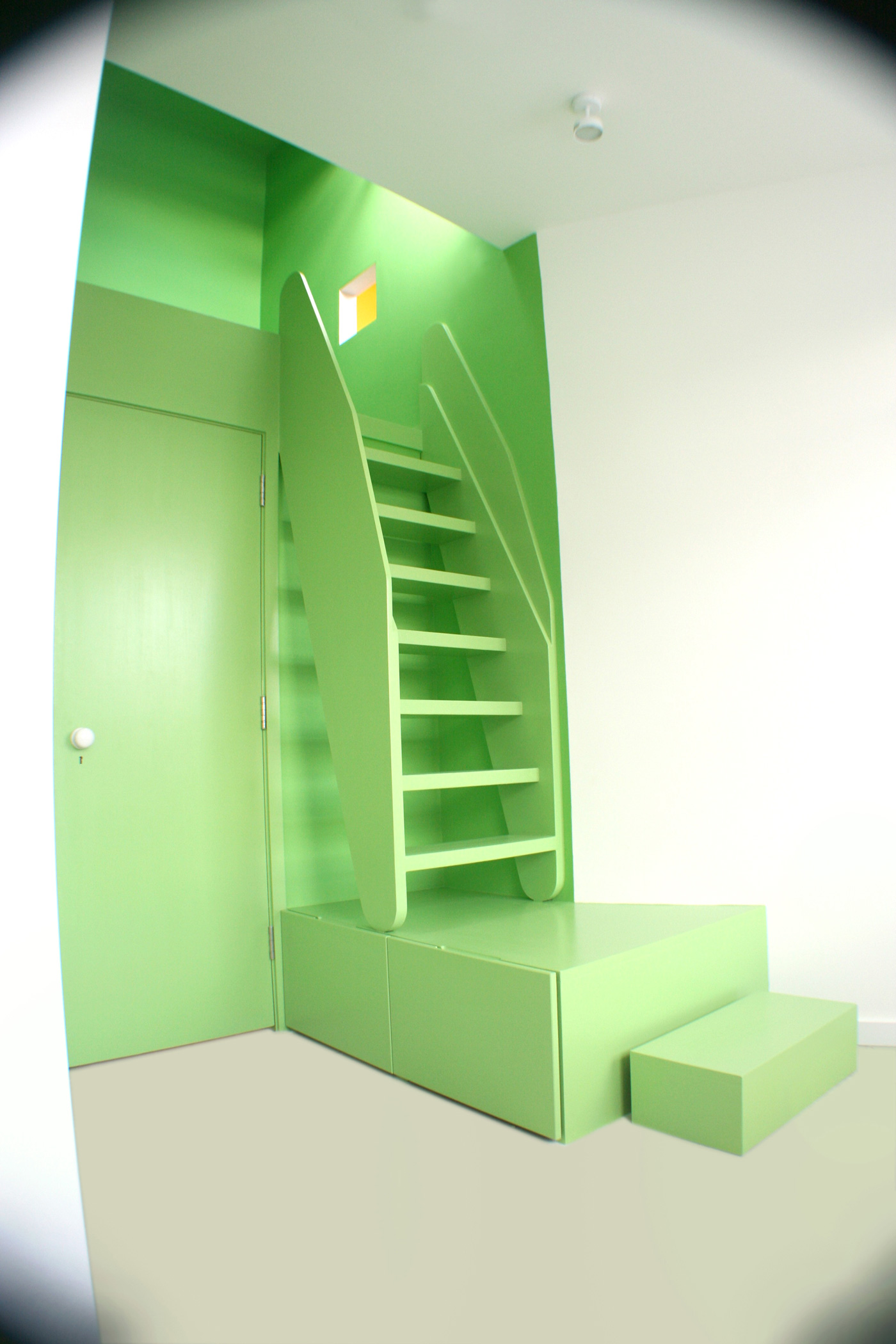 Photo of the green bedroom for the children